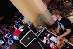 The mobile TV studio of FS1 at a summer fest (FS1 2015)